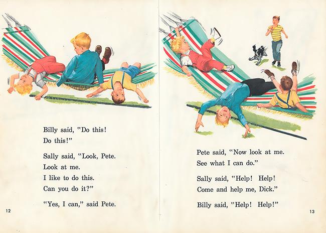children's book art dick and jane