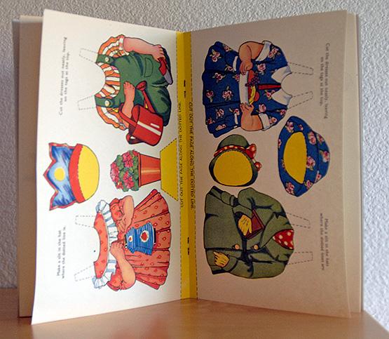Doll Cutout Book England 1948