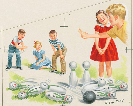 Childrens Book Bowling Summer Artwork For Sale