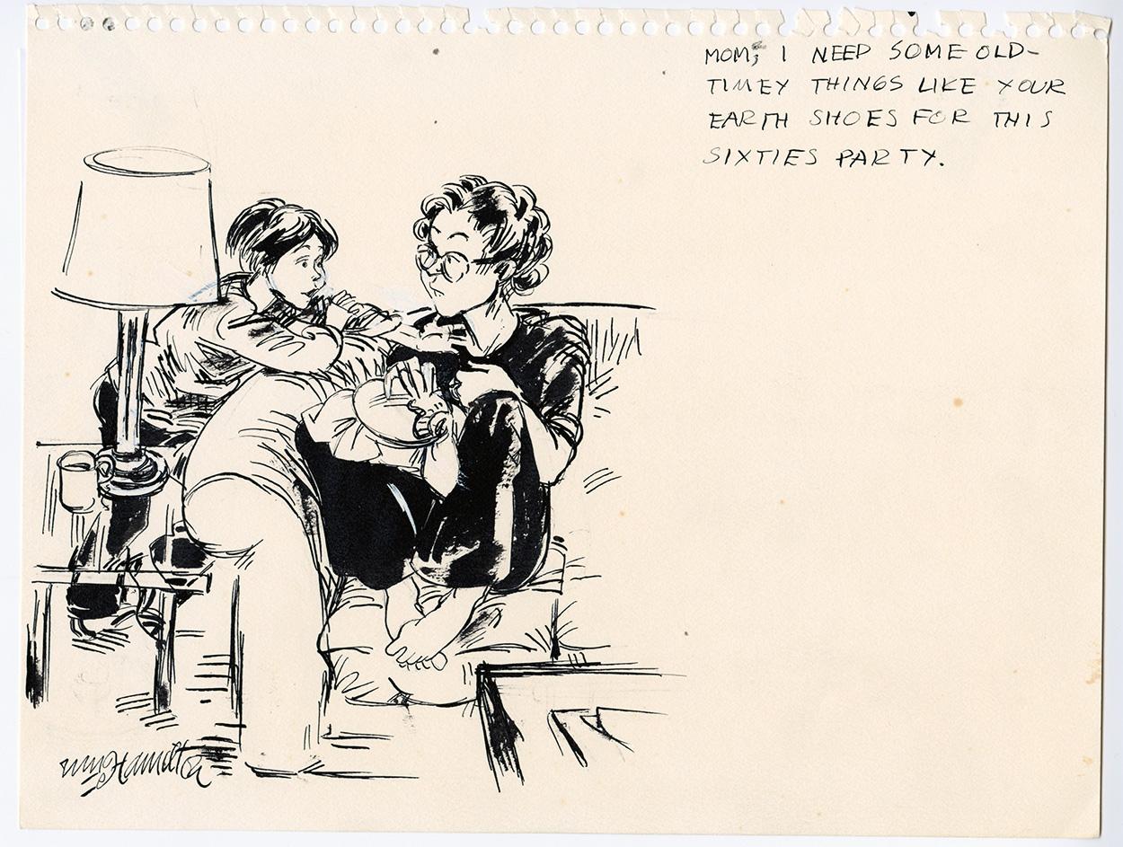 Line Art Earth : William hamilton u cthe new yorkeru d cartoonist earth shoes